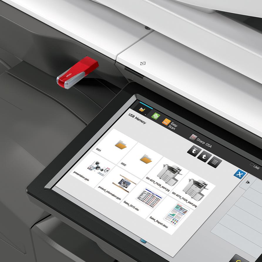 عملکرد دستگاه کپی چاپ از فلش و حافظه جانبی
